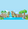 nature scene with waterfall and river vector image