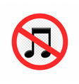 no sound sign symbol icon vector image