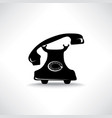 Old phone icon retro phone symbol handset sign