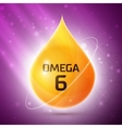 Omega 3 icon vector image vector image