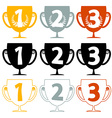 One Two Three - Price Cups - Icons Set Isolated on vector image