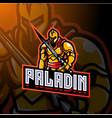 paladin esport mascot logo design vector image vector image