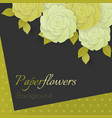 paper flower realistic white and vector image vector image