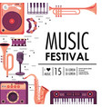 play instruments to music festival celebration vector image