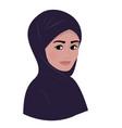 portrait of arab muslim beautiful woman in dark vector image vector image