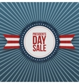 Presidents Day Sale discount Emblem with Ribbon vector image