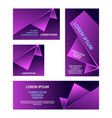 purple abstract geometric banners set vector image