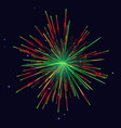 red green fireworks new year background vector image vector image