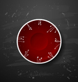 red plate vector image