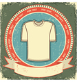 retro t-shirt label vector image vector image