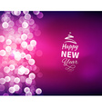 Romantic Happy New Year Background vector image vector image