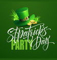 saint patricks day poster design background vector image vector image