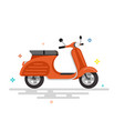 scooter motorcycle vector image