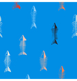 Seamless background with fish skeletons vector image vector image