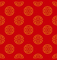 seamless pattern with a chinese prosperity symbol vector image