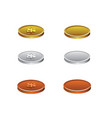 set of realistic coins vector image