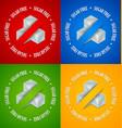 set sugar free symbols vector image