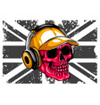 skull and flag great britain vector image vector image