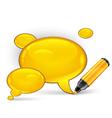 speech symbol felt tip pen vector image vector image