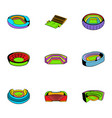 sports stadium icons set cartoon style vector image vector image