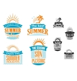 Summer vacation and travel designs vector image vector image
