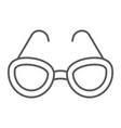 sunglasses thin line icon glasses and fashion vector image