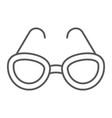 sunglasses thin line icon glasses and fashion vector image