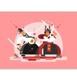Sushi samurai design vector image