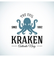 The Evil Kraken Authentic Navy Abstract vector image vector image