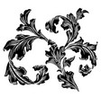vintage classic victorian ornament pattern vector image