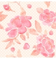 Watercolor seamless wallpaper with Peony flowers vector image vector image