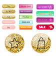 web elements shop buttons buy element cart vector image