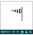 Wind sock icon flat vector image vector image