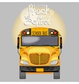 Yellow school bus in front view vector image