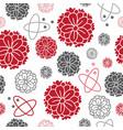 zinnia garden-flowers in bloom seamless repeat vector image vector image