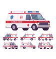 ambulance car rescue set vector image