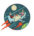 a cosmic date couple in love in restaurant vector image