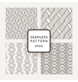 A set of four seamless patterns Scythe vector image vector image
