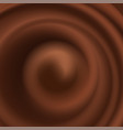 abstract background with chocolate wave and swirl vector image vector image