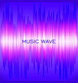 abstract colorful wave music background vector image