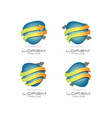 arrow logo set vector image vector image