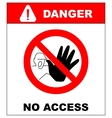 authorized personnel only vector image vector image