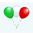 Balloons in Green White Red as Italy National Flag vector image