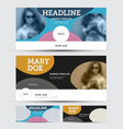 banner template with abstract pattern place for vector image