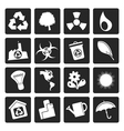 Black Simple Ecology and Recycling icons vector image vector image