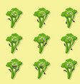 broccoli positive emotions vector image vector image