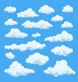 cartoon clouds isolated on blue sky panorama vector image