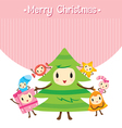 Christmas Ornaments Character Design Set vector image vector image