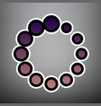 circular loading sign violet gradient vector image vector image