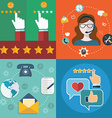 collection of flat and colorful business marketing vector image vector image